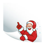 Santa Claus holding a blank piece of paper. Stock Images