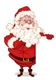 Santa Claus holding a blank sign Royalty Free Stock Image