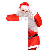 Santa Claus holding a blank sign Stock Photography