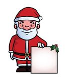 Santa Claus holding a blank sign Royalty Free Stock Photos
