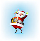 Santa Claus holding a candy Stock Images