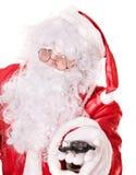 Santa claus  holding car keys . Stock Image