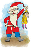 Santa Claus holding a doll in his arms Stock Photography