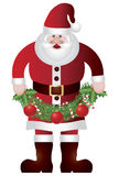 Santa Claus Holding Garland Illustratio Royalty Free Stock Images