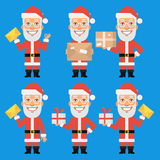 Santa Claus Holding Gift Package Letter Stock Photography