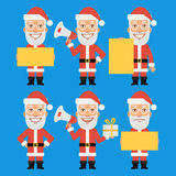 Santa Claus Holding Gift Paper Megaphone Stock Images