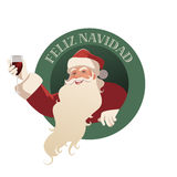 Santa Claus holding a glass of wine Stock Image