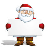 Santa Claus Holding a Label Stock Photos