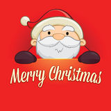 Santa Claus Holding Merry Christmas Sign libre illustration