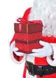 Santa Claus Holding Present Royalty Free Stock Photography
