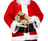 Santa Claus holding presents Stock Photos