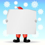 Santa Claus holding a sheet of paper Stock Photography
