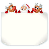 Santa Claus Holding Sign Stock Photography