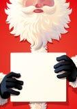 Santa Claus holding a sing stock photos