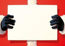 Santa Claus holding a sing royalty free stock image