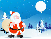 Santa claus holding a toy bag Royalty Free Stock Photo