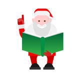 Santa Claus holds a book Stock Image