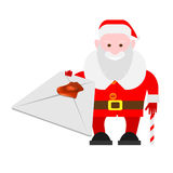 Santa Claus holds envelope Royalty Free Stock Photo