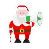 Santa Claus holds megaphone Stock Photography