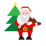 Santa Claus holds a violin Royalty Free Stock Photos