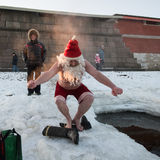 Santa Claus in the hole Stock Photos