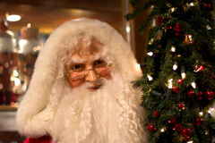 Santa Claus with holiday background Stock Images