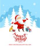 Santa Claus holiday cartoons Stock Images