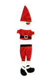 Santa Claus holiday suit on white. Stock Photo