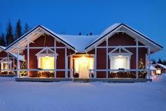 Santa Claus Holiday Village Houses Lapland Scandinavië Stock Afbeeldingen