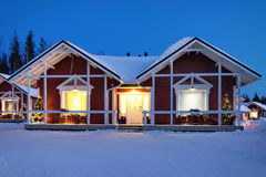 Santa Claus Holiday Village Houses Lapland Scandinavia immagini stock