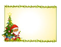Santa Claus Holly Background 2 Royalty Free Stock Images