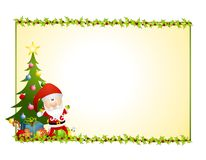 Santa Claus Holly Background stock illustration