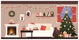 Santa`s house interior Royalty Free Stock Photography
