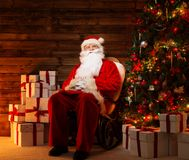 Santa Claus in home interior Royalty Free Stock Images