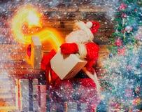Santa Claus in home interior Royalty Free Stock Image