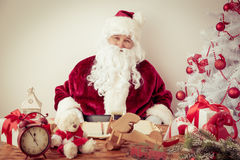Santa Claus at home Royalty Free Stock Photography