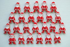 Santa Claus Honey Cookies on a white background Stock Image