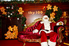 Santa Claus in Hong Kong Stock Photos