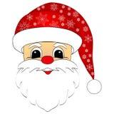 Santa Claus-hoofd Royalty-vrije Stock Foto
