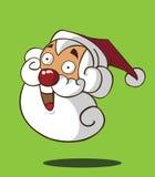 Santa Claus-hoofd Vector Illustratie