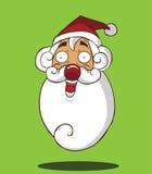 Santa Claus-hoofd Stock Fotografie