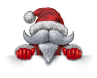 Santa Claus Horizontal Sign Stock Foto's