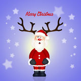 Santa Claus horned Royalty Free Stock Images