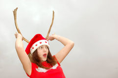 Santa Claus with horns Royalty Free Stock Photos