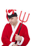 Santa Claus with horns Royalty Free Stock Image