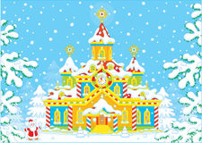 Santa Claus house royalty free illustration