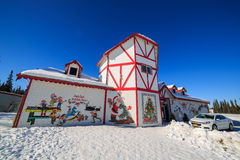 Santa claus house, north pole. MAR 18, Fairbanks: The beautiful santa claus house on MAR 18, 2015 at Fairbanks Royalty Free Stock Photography