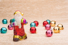 Santa Claus with Сhristmas balls Royalty Free Stock Image