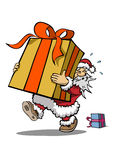 Santa claus with huge gift Stock Image