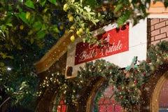 Santa Claus-huis Stock Afbeeldingen